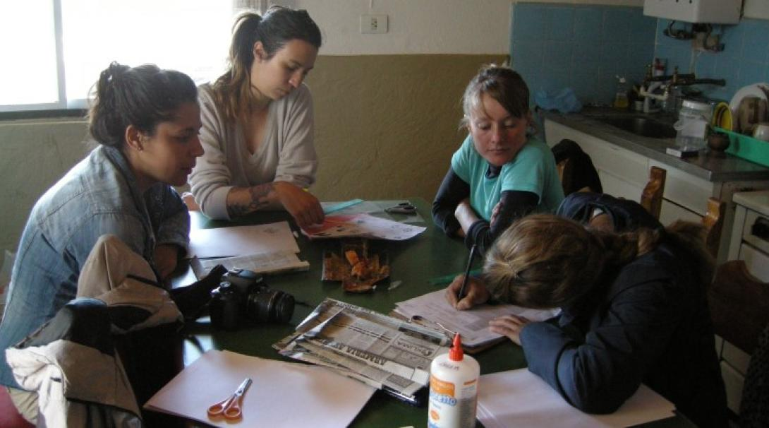 A group of volunteers in Patagonia